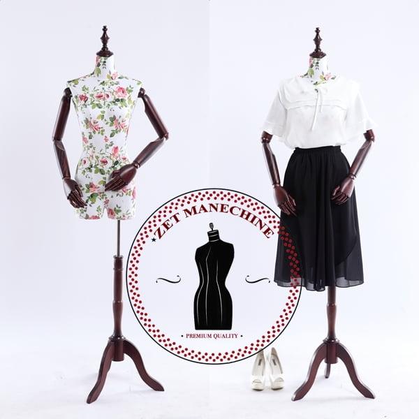 Manechin cu brate de lemn femeie Manechine Vitrina si Croitorie