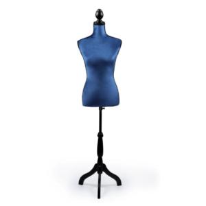 "Manechin fix (BUST) croitorie si decor ""Blue"" Manechine Vitrina si Croitorie"