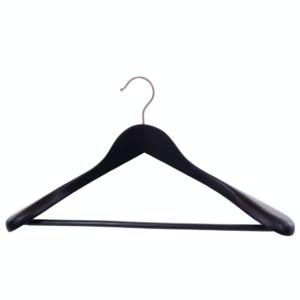Umerașe din lemn negru cu margine curbată și bară antiderapantă pentru pantaloni Umerase